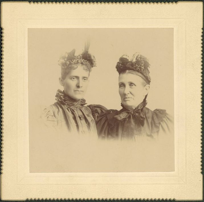 Grace and Alice Hebard August 20, 1895 Miscellaneous AHC Collections Negative Number 18161