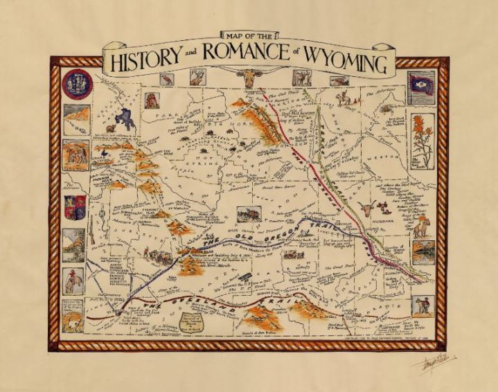 Map of the History and Romance of Wyoming