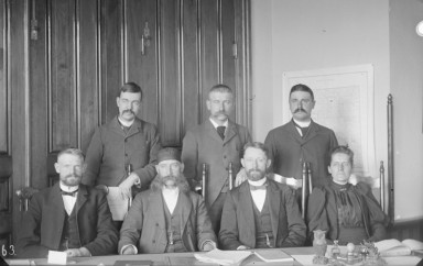 1893 Group Portrait of Experiment Station Council University of Wyoming, American Heritage Center, B. C. Buffum Papers, Accession Number 400055, Box 15, Item 2