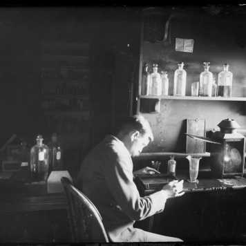 Dr. Edwin Emory Slosson in the Dark Room in 1898, Box 34, Item 56, B. C. Buffum Papers, American Heritage Center, University of Wyoming