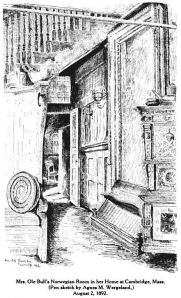 Wergeland's Sketches from the places she has lived and studied, Glimpses From Agnes Mathilde Wergeland's Life pages 75,