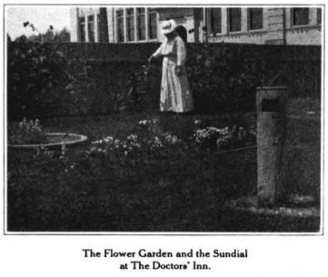 Dr. Wergeland in the flower garden at The Doctor's Inn, Glimpses From Agnes Mathilde Wergeland's Life pg 167