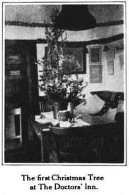 The First Christmas Tree at The Doctor's Inn on Dr. Wergeland's Writing Table, Glimpses From Agnes Mathilde Wergeland's Life pg 172