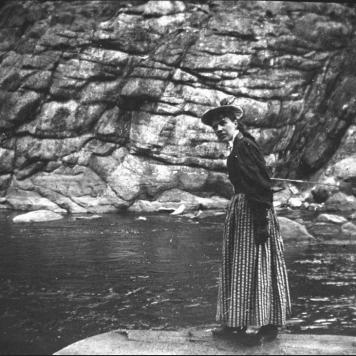 May Preston Slosson Fishing circa 1900, Box 98, Negative D4-3827 & A-20540, Samuel H. Knight Collection, American Heritage Center, University of Wyoming