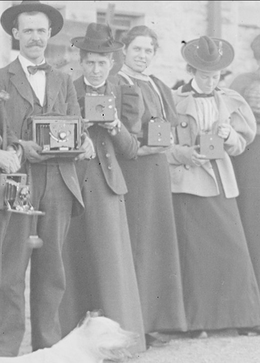 Camera Club circa 1890-1920, Detail Dr. Hebard, University of Wyoming, American Heritage Center, B. C. Buffum Papers, Accession Number 400055, Box 31, Item 27
